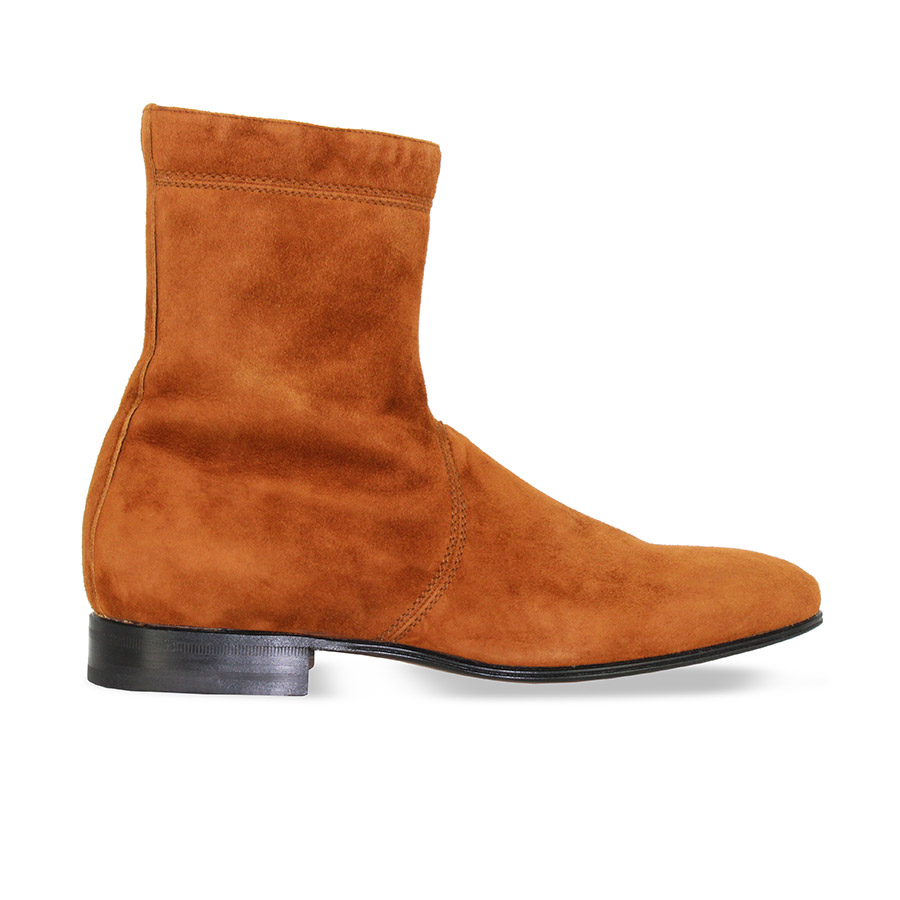 Bottines - Dylan - Veau velours fauve