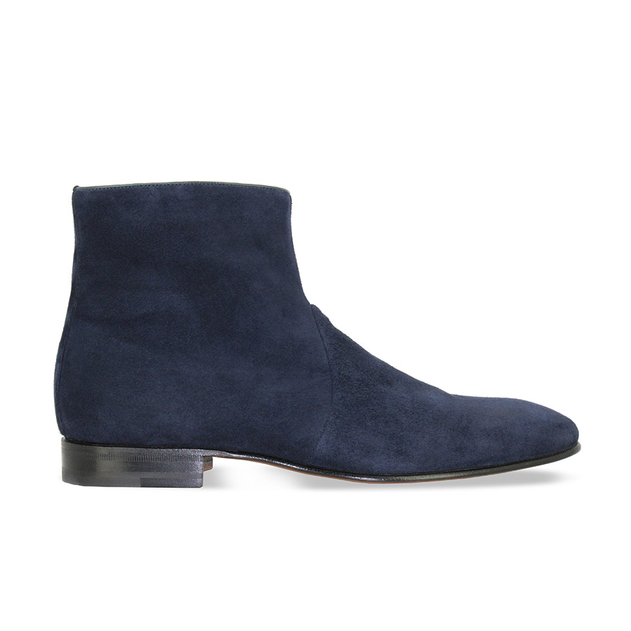 Bottines - Franklin - Veau bleu marine