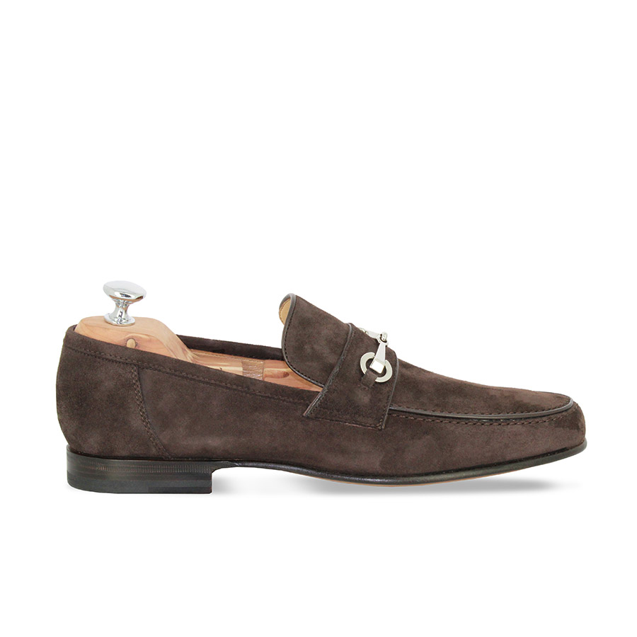 Mocassins - Venise - Veau velours marron